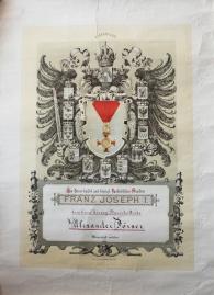 Ukaz o dodjeli ordena F.J. za bolničko liječenje