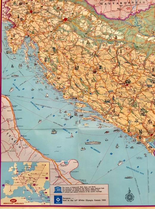 Predratna trajektna linija iz Ploča za Ankonu