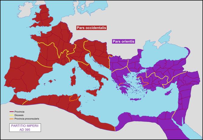 12. Podjela Rimskog carstva (395.)