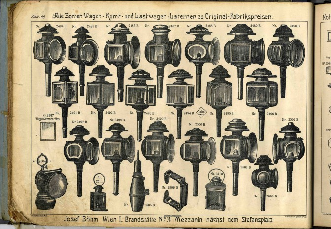 Katalog svjetiljki iz 1813. godine