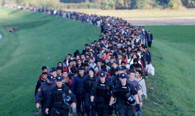 Kolona izbjeglica u Bihaću
