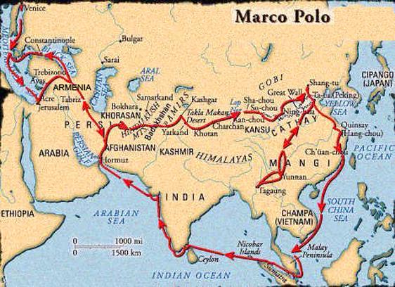 Mapa putovanja Marka Pola