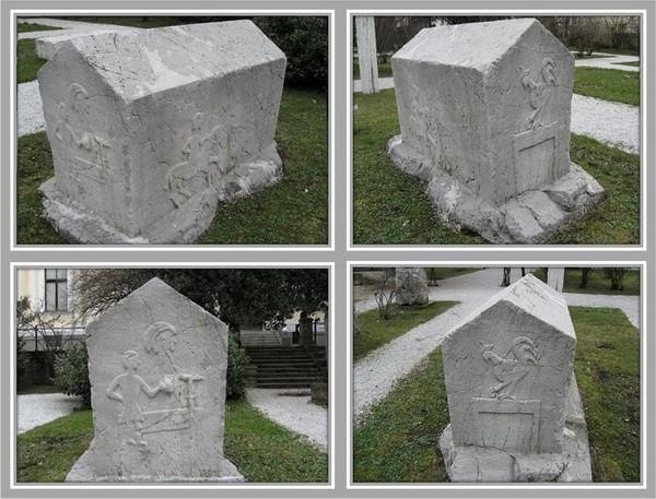 118. Motiv pijetla na stećku (Botanički vrt Zemaljskog muzeja u Sarajevu)
