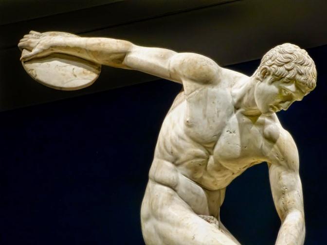 4. Diskobolus, kipar Myron, prva polovina V stoljeća p.n.e.